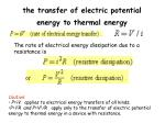 the transfer of electric potential energy to thermal energy