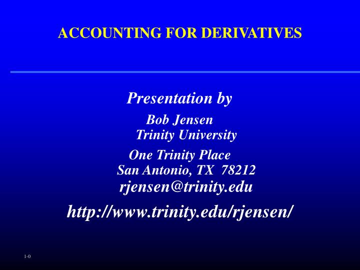 accounting for derivatives n.