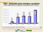 pac dota es para estudos e projetos r 2 bilh es em estudos e projetos em 5 anos