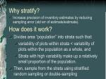 why stratify