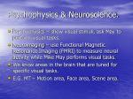 psychophysics neuroscience