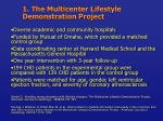 1 the multicenter lifestyle demonstration project