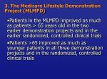 3 the medicare lifestyle demonstration project mlmpd