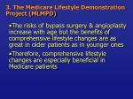 3 the medicare lifestyle demonstration project mlmpd35
