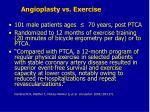 angioplasty vs exercise