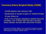 coronary artery surgical study cass