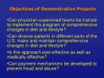 objectives of demonstration projects