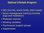 optimal lifestyle program