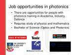 job opportunities in photonics