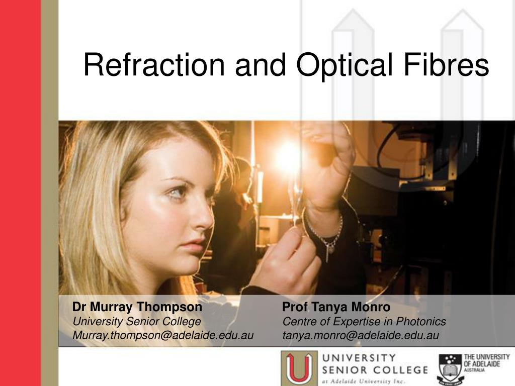 refraction and optical fibres l.