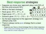 best response strategies