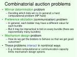 combinatorial auction problems