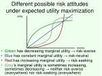 different possible risk attitudes under expected utility maximization