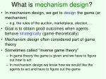 what is mechanism design
