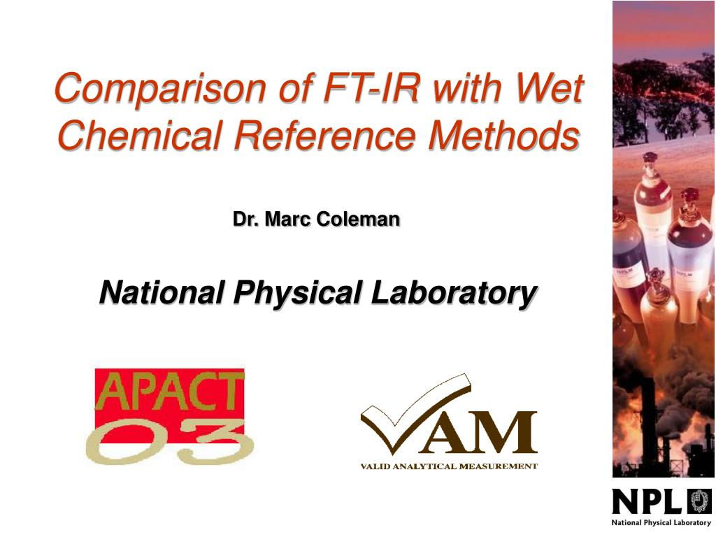 comparison of ft ir with wet chemical reference methods l.