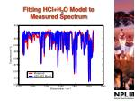 fitting hcl h 2 o model to measured spectrum
