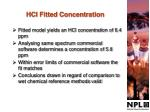 hcl fitted concentration