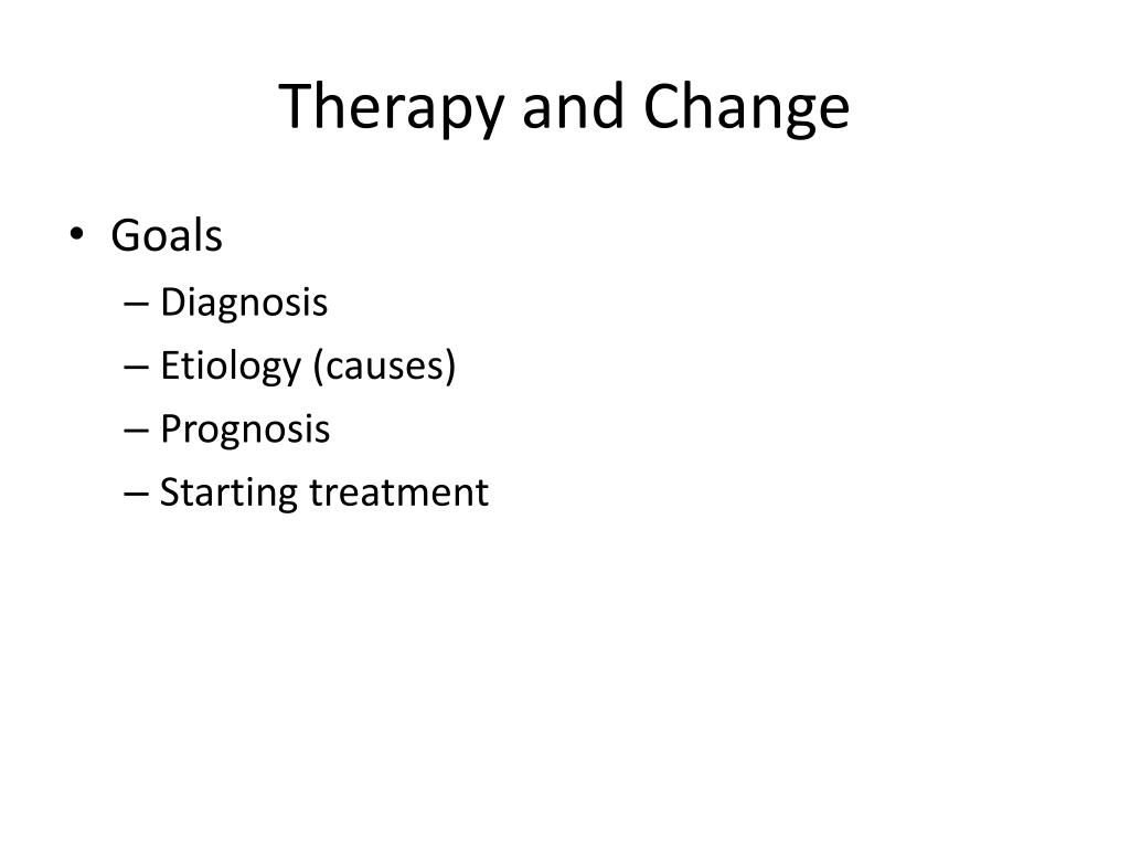 therapy and change l.