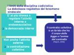 i limiti della disciplina codicistica la debolezza regolativa del fenomeno sindacale