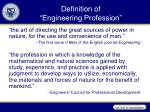 definition of engineering profession