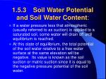 1 5 3 soil water potential and soil water content