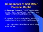 components of soil water potential contd