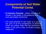 components of soil water potential contd28