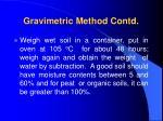 gravimetric method contd