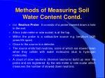 methods of measuring soil water content contd36