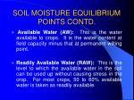 soil moisture equilibrium points contd45