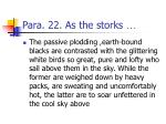 para 22 as the storks