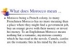 what does morocco mean