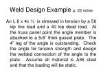 weld design example p 22 notes