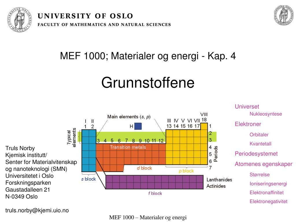 mef 1000 materialer og energi kap 4 grunnstoffene l.