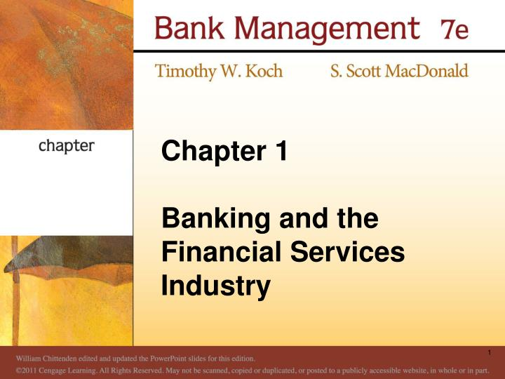 chapter 1 banking and the financial services industry n.