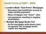 credit crisis of 2007 2009