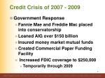 credit crisis of 2007 20094