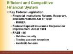 efficient and competitive financial system86
