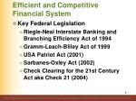 efficient and competitive financial system87
