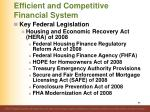 efficient and competitive financial system89