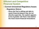 efficient and competitive financial system93