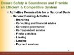 ensure safety soundness and provide an efficient competitive system68