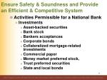 ensure safety soundness and provide an efficient competitive system71