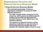 organizational structure and financial services business model29