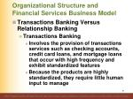 organizational structure and financial services business model31