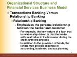 organizational structure and financial services business model32