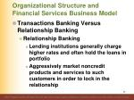 organizational structure and financial services business model33