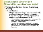 organizational structure and financial services business model34
