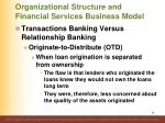 organizational structure and financial services business model35