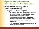 organizational structure and financial services business model36
